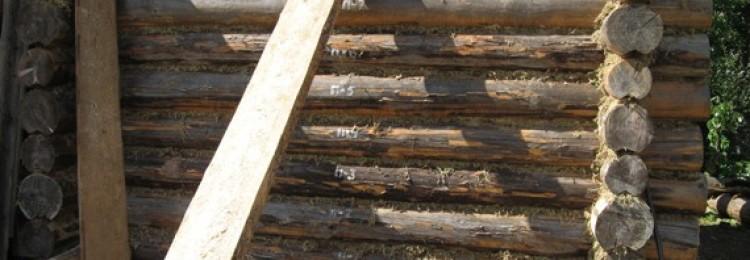 Кроем крышу бани из бревна