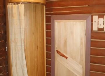 Необходимость душевой кабины в бане