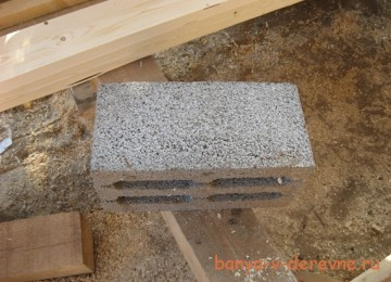 Вариант бани 4х4 из блоков