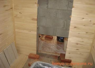 Завершаем отделку бани из блоков