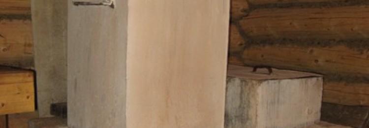 Кирпичная печь в деревенской бане