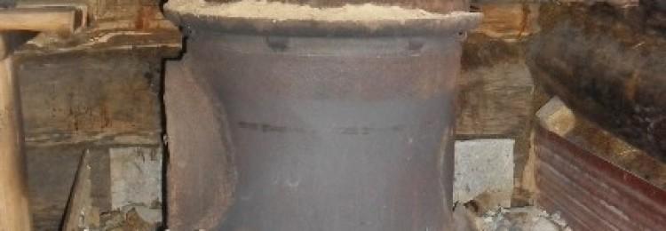 Самодельная печь из колесных дисков