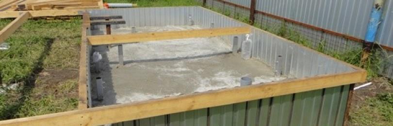 Строим простую баню 4х4 из профнастила