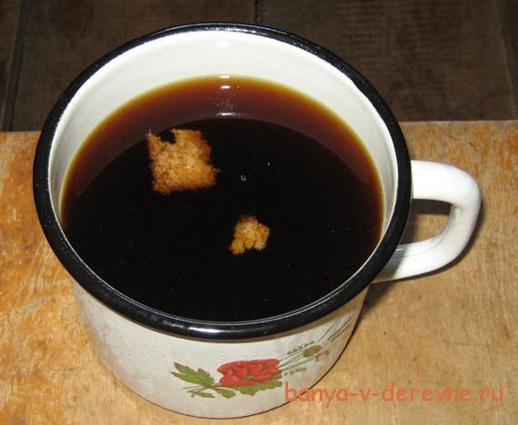 Деревенский квас-наполнит баню хлебным ароматом