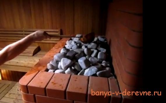 Банная печь из кирпича с открытой каменкой своими руками